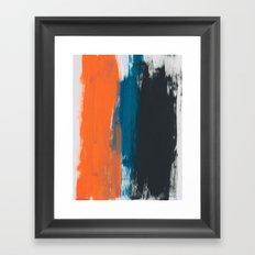 Orange Adventure Framed Art Print