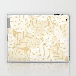 Tropical Shadows - Beige / White Laptop & iPad Skin