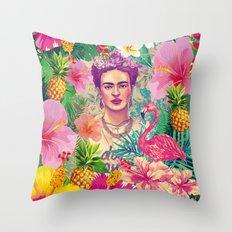 Frida Jungle Throw Pillow
