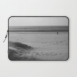Beach in winter with some walkers Laptop Sleeve