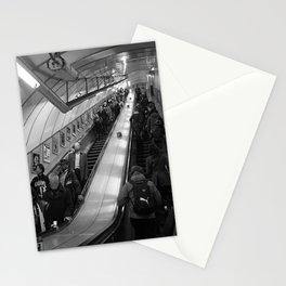 faceless escalators Stationery Cards