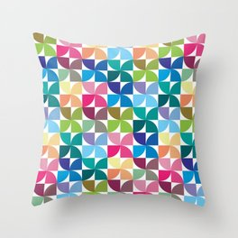 Geometric Pattern 1 (Colorful semicircle) Throw Pillow