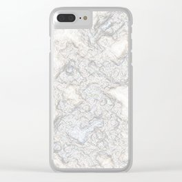 Paper Marble Clear iPhone Case