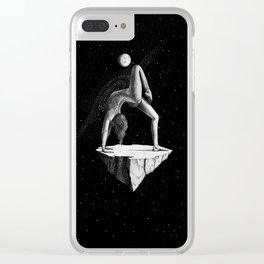 Space Yoga Clear iPhone Case