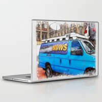 the hound Laptop & iPad Skins featuring News Hound by Paul & Fe Photography