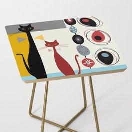 Mid-Century Modern Art Cats Side Table