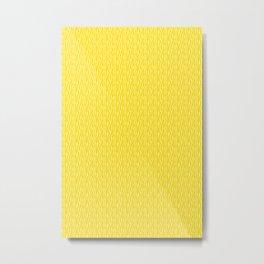 Yellow Zebra Print Pattern Metal Print