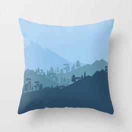 Forest Render Throw Pillow