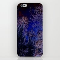 psychadelic iPhone & iPod Skins featuring Psychadelic trees frame the moon by Cheryl - DevilBear Photography