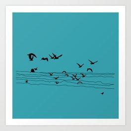 Seagull Beach by Seasons K Designs Art Print
