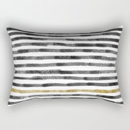 Black Stripes II Rectangular Pillow