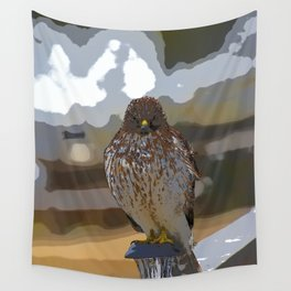 Chicken Hawk Starring Down At Me Wall Tapestry