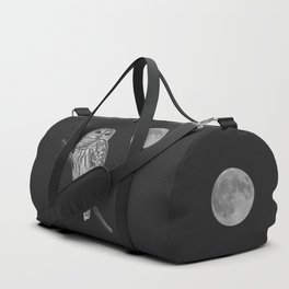 Owl, See the Moon (bw) Duffle Bag