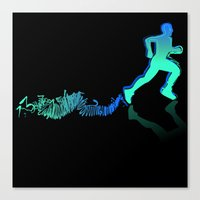 runner Canvas Prints featuring RUNNER by FoOlRusN