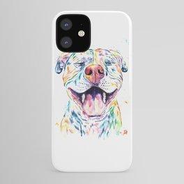 Pit Bull, Pitbull Watercolor Pet Portrait Painting - Tango iPhone Case