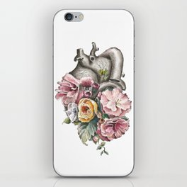 Floral Anatomy Heart iPhone Skin