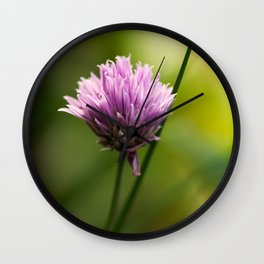 Chive Bloom Wall Clock