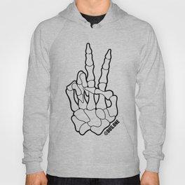 Skeleton Peace Hand Hoody