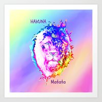 hakuna Art Prints featuring Hakuna Matata by Laura Santeler