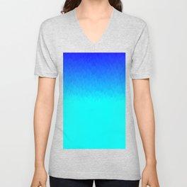 Electric Blue Ombre flames / Light Blue to Dark Blue Unisex V-Neck
