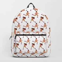 Besties on the Go Pattern (Small / White) Backpack