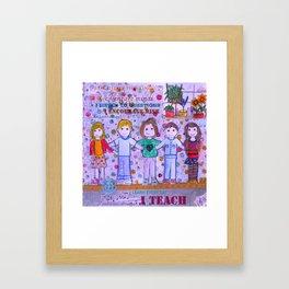 Teacher Appreciation Framed Art Print