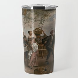 Jan Steen The Dancing Couple 1663 Painting Travel Mug