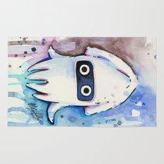Blooper Watercolor Mario Art Rug