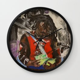 lucki,days b4 3,album,poster,cover,painting,fan art,rap,rapper,dope,print,shirt,hiphop,deadboy,life,music,lyrics,graffiti,trap,cool,cover,gang,paint,wall art,fan,lucky,black,collection,rnb,artist Wall Clock