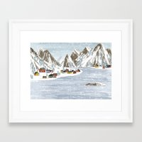 denmark Framed Art Prints featuring Denmark. by Lu Green
