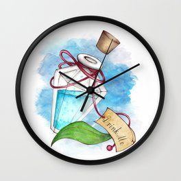 Drink Me Potion in Wonderland Wall Clock