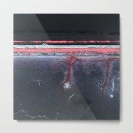 Abstract - Black Glass Metal Print