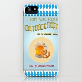 Poster of 'Waiting for the Oktoberfest' iPhone Case