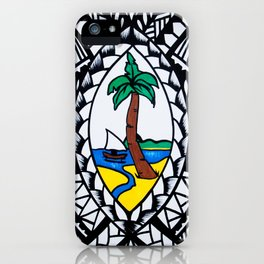 Guam Seal Poly Style iPhone Case
