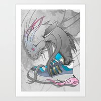 sneaker Art Prints featuring Sneaker Monster by Hexstatic