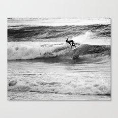 Jouer avec les vagues Canvas Print