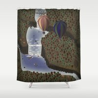 forrest Shower Curtains featuring The forrest by Soak