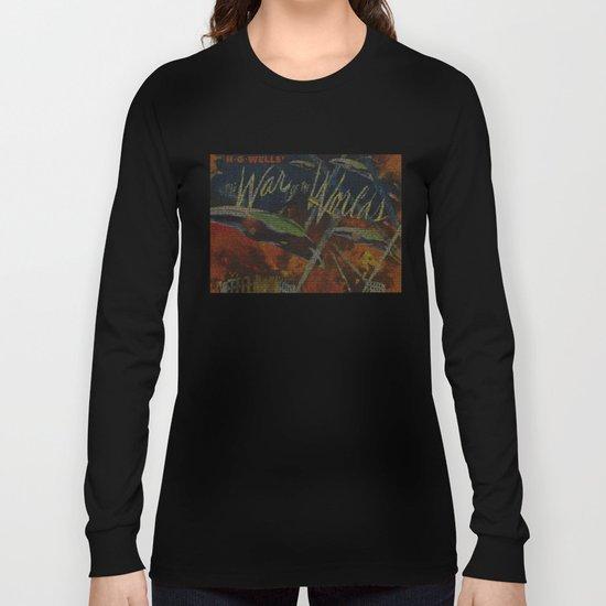 War Of The Worlds Script Print Long Sleeve T-shirt