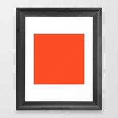 Russian Red Framed Art Print