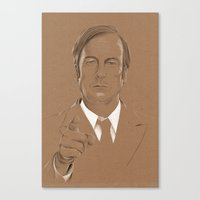 lawyer Canvas Prints featuring A Criminal Lawyer by Six Pixel Design