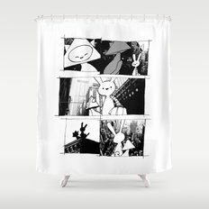 minima - vue Shower Curtain