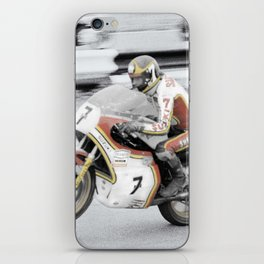 Barry Sheene 2, the hand tinted version iPhone Skin