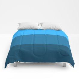Blue Gradient Pattern Comforters