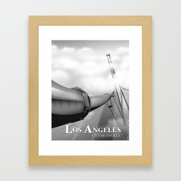 """Los Angeles """"City of Angels"""" Black and white edition Framed Art Print"""