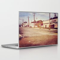 memphis Laptop & iPad Skins featuring Memphis Street by wendygray