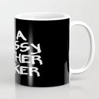 classy Mugs featuring Classy by Wanker & Wanker