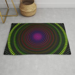 Optical illusion circles Rug