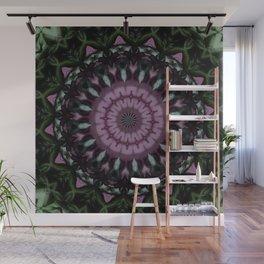 Rose And Jade Geometric Fantasy Mandala Pattern Wall Mural