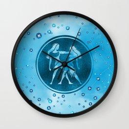 Gemini Zodiac Sign Air Element Wall Clock
