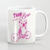 boss Mugs featuring Train Like A Boss by Huebucket